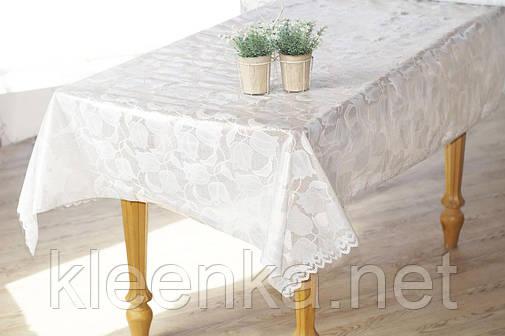 Клеенка Ажурная на праздничный стол, высокое качество! Нежные тюльпаны, фото 2