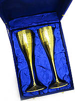 Бокалы бронзовые позолоченные (н-р 2 шт) (h-20 см) (24х18,5х7,5 см)
