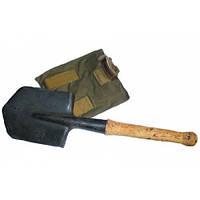 Солдатская саперная лопатка с чехлом в комплекте.
