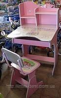 Детская парта со стульчиком HB-2071-02 синяя, розовая, салатовая., фото 2