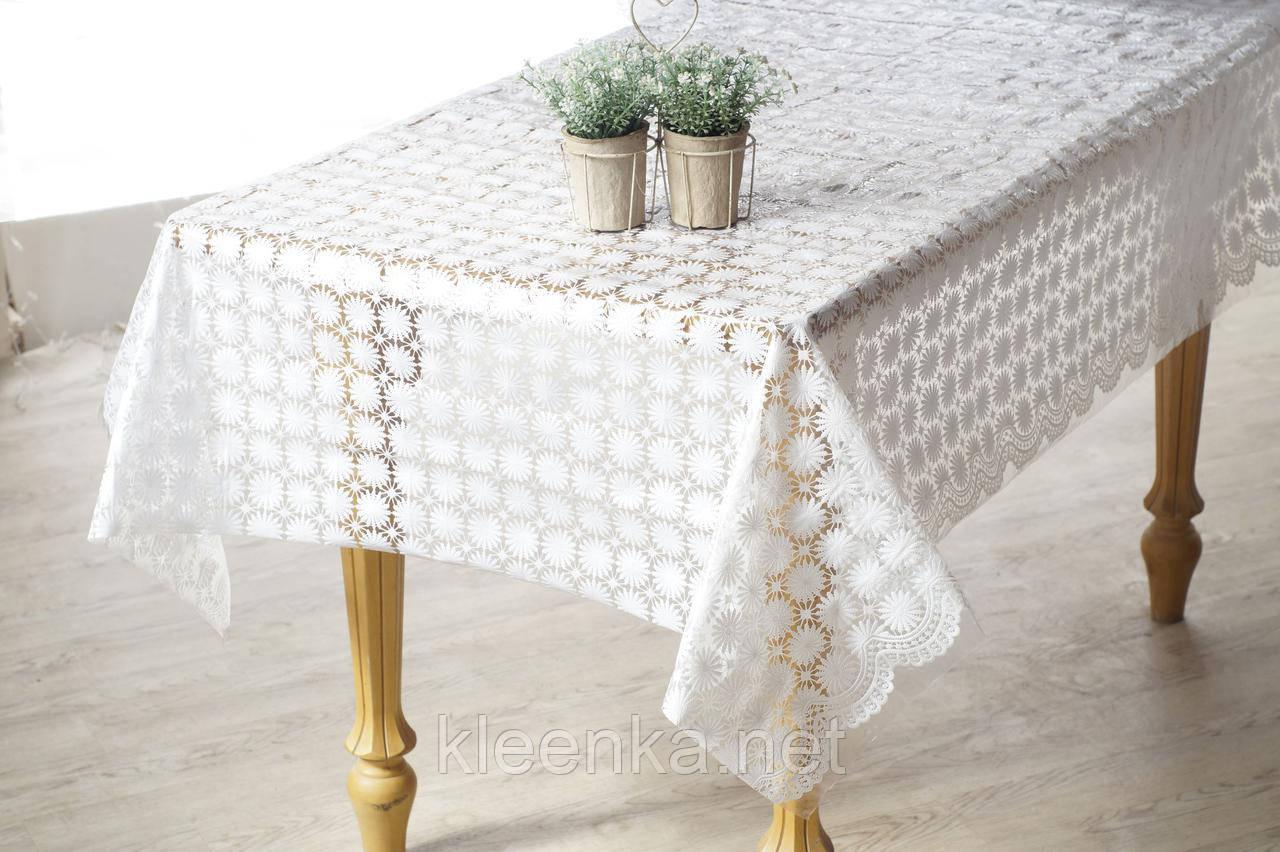 Клеенчатая скатерть на обеденный стол  Ажур
