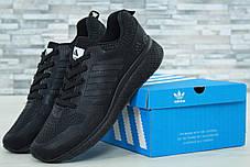Мужские кроссовки AdAdidas Marathon черные топ реплика, фото 2