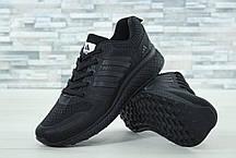Мужские кроссовки AdAdidas Marathon черные топ реплика, фото 3