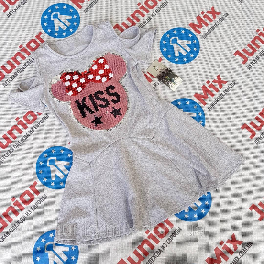 Детское летнее платье для девочек с паетками меняшками оптом Angelina
