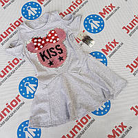 Детское летнее платье для девочек с паетками меняшками оптом Angelina, фото 1