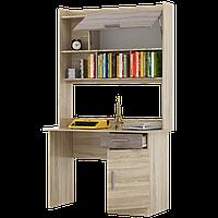 Стол письменный Школьник-3 + надстройка сонома + трюфель Эверест (110х55х188 см)