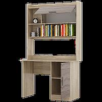 Стол письменный Школьник-5 + надстройка сонома + трюфель Эверест (110х55х188 см)