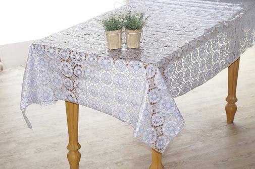 Скатерть клеенчатая с нежным ажуром , фото 2