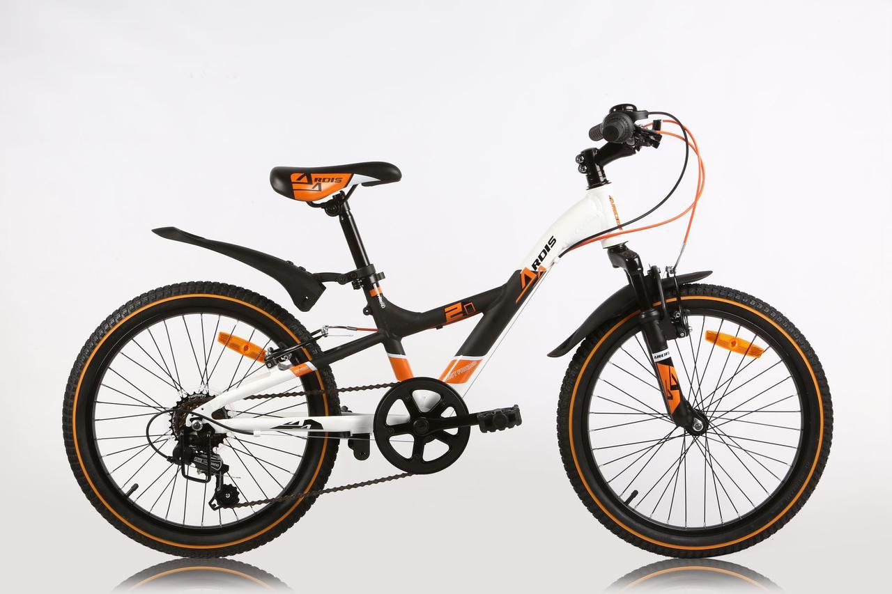 """Детский велосипед ARDIS BEST FRIEND 20""""  Черный/Белый/Оранжевый"""
