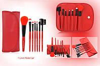 MAKE-UP FOR YOU Набор кисточек  для макияжа из 7 шт  с чехлом цвет красный