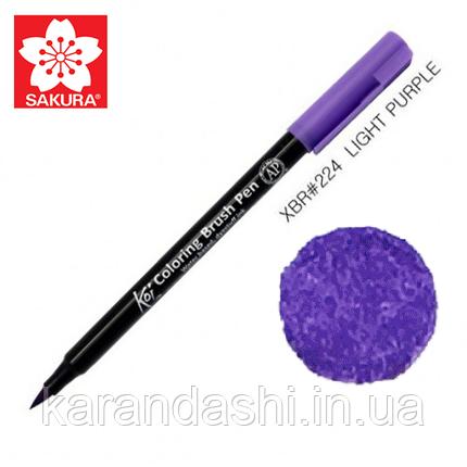 Маркер Koi #224 Brash Pen Sakura Light Purple Пурпурный светлый, фото 2