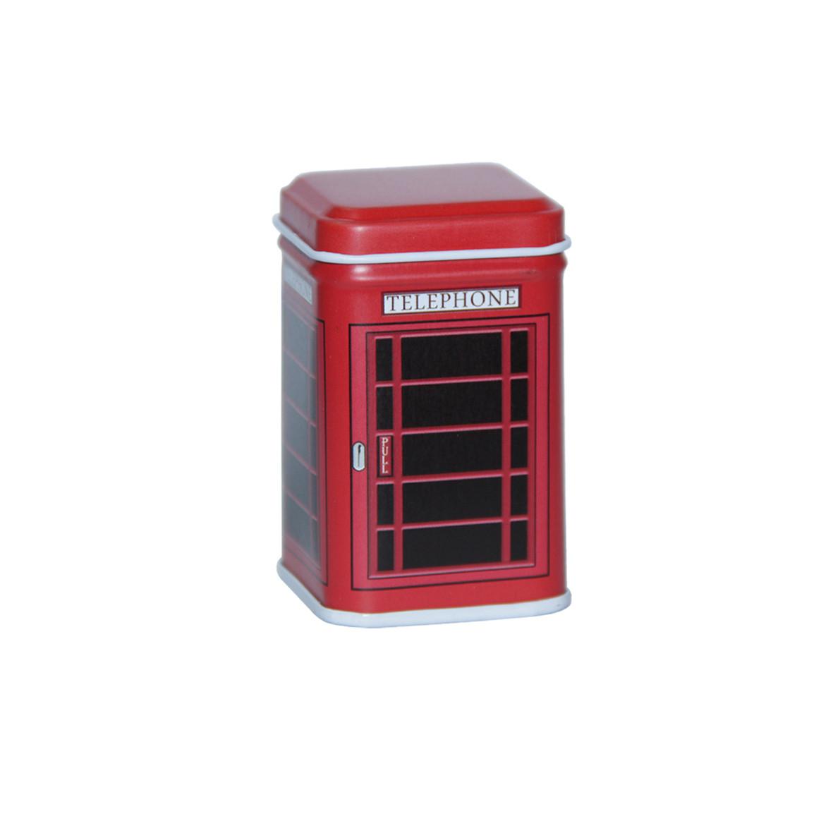 Маленькая коробка для чая и кофе Фентези Телефонная будка, 25г ( коробочка для сыпучих )