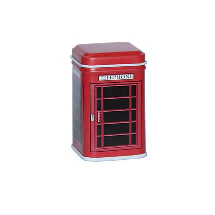Маленькая коробка для чая и кофе Фентези Телефонная будка, 25г ( коробочка для сыпучих ), фото 2
