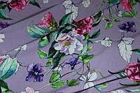 Нежно фиалковый фон Ткань супер софт поляна №26, фото 1