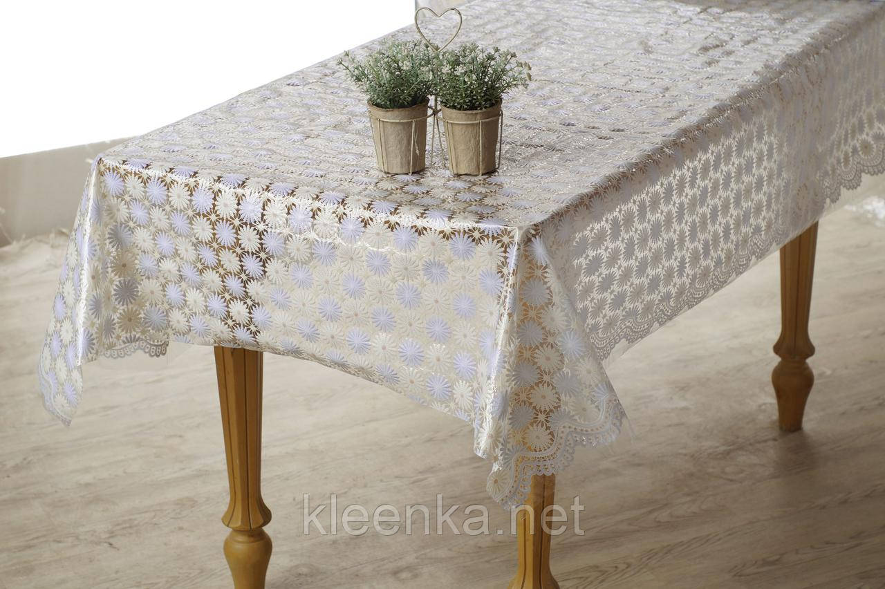 Скатерть клеенчатая на стол Ажур Лейс