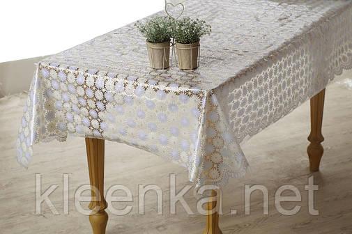 Скатерть клеенчатая на стол Ажур Лейс , фото 2