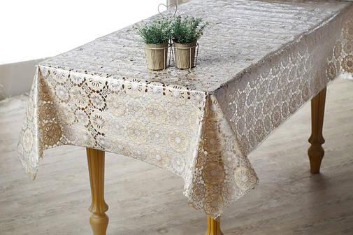 Шикарная клеенка на праздничный стол Ажур, фото 2