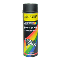 Краска аэрозольная акриловая Motip 500 мл черная матовая