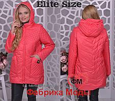 Демисезонная женская куртка с капюшоном большого размера Производитель  Украина прямые поставки фабрики р.48- cd3172e2f09