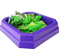 Набор для игры Зверята с зеленым песком
