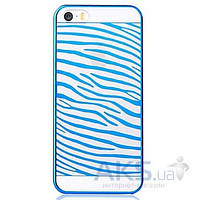 Чехол Vouni Glimmer Zebra Apple iPhone 5, iPhone 5S, iPhone SE Blue