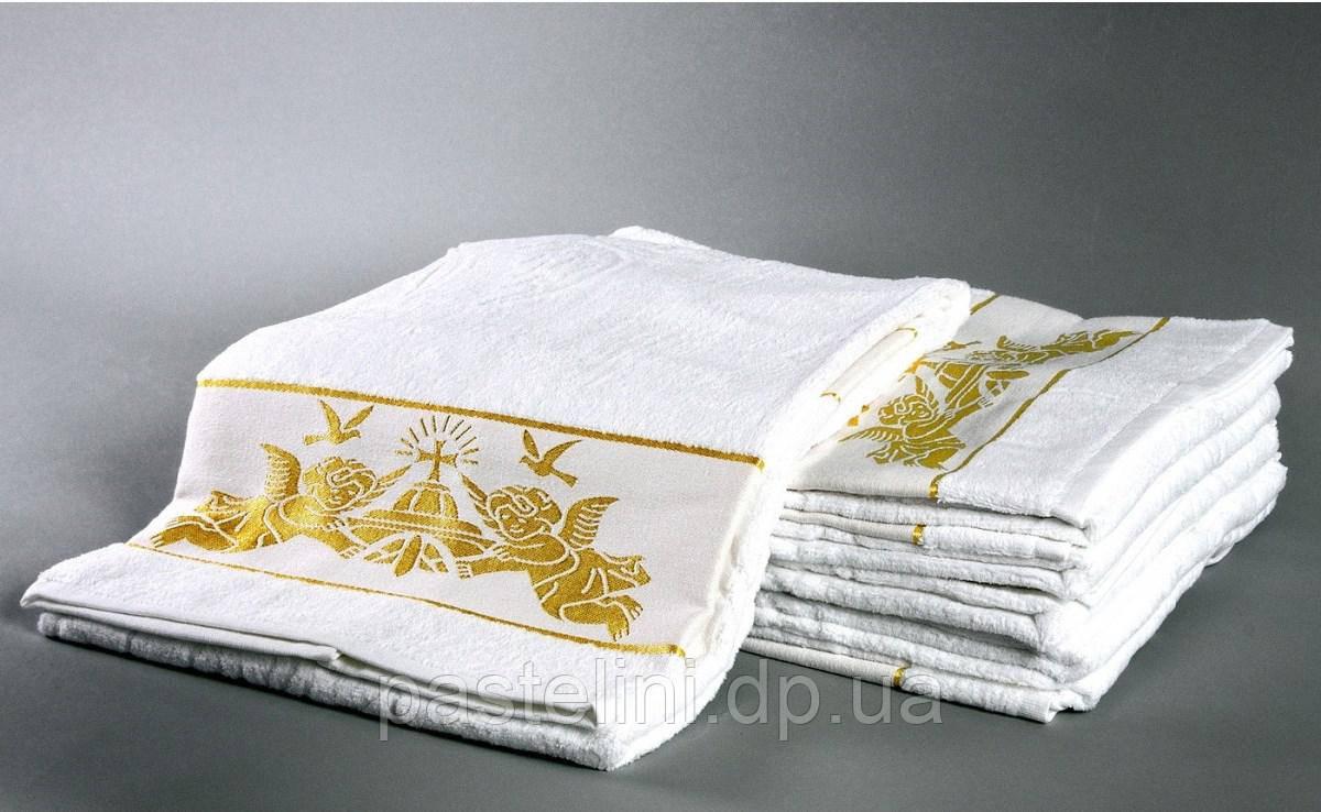 Hanibaba полотенце  крыжма Ангелы золото 70х140
