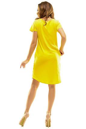 Платье 410  Париж желтый, фото 2