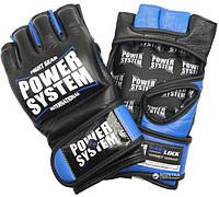 Перчатки для смешанных единоборств красные Power System
