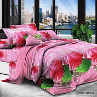 Полутороспальный постельный комплект 3д