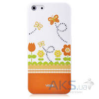 Чехол Vouni Swarovski Apple iPhone 5, iPhone 5S, iPhone SE Orange