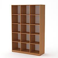Шкаф книжный КШ-3 бук Компанит (130х45х195 см)