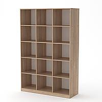 Шкаф книжный КШ-3 дуб сонома Компанит (130х45х195 см)