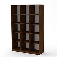 Шкаф книжный КШ-3 орех экко Компанит (130х45х195 см)