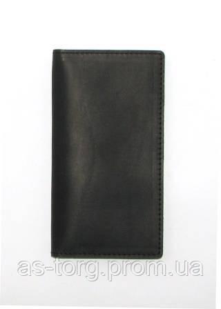 Большой кожаный кошелек кожаный, кошелек натуральная кожа черный, черный кошелек
