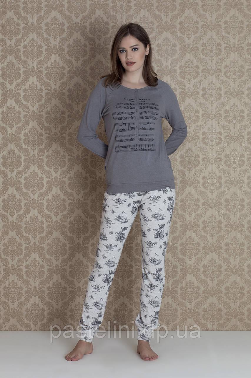 Двойка: брюки+кофта 17100 (gri)