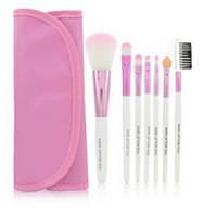 MAKE-UP FOR YOU Набор кисточек  для макияжа из 7 шт  с чехлом цвет розовый