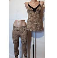Пижама ночной костюм De Lafense майка бриджи