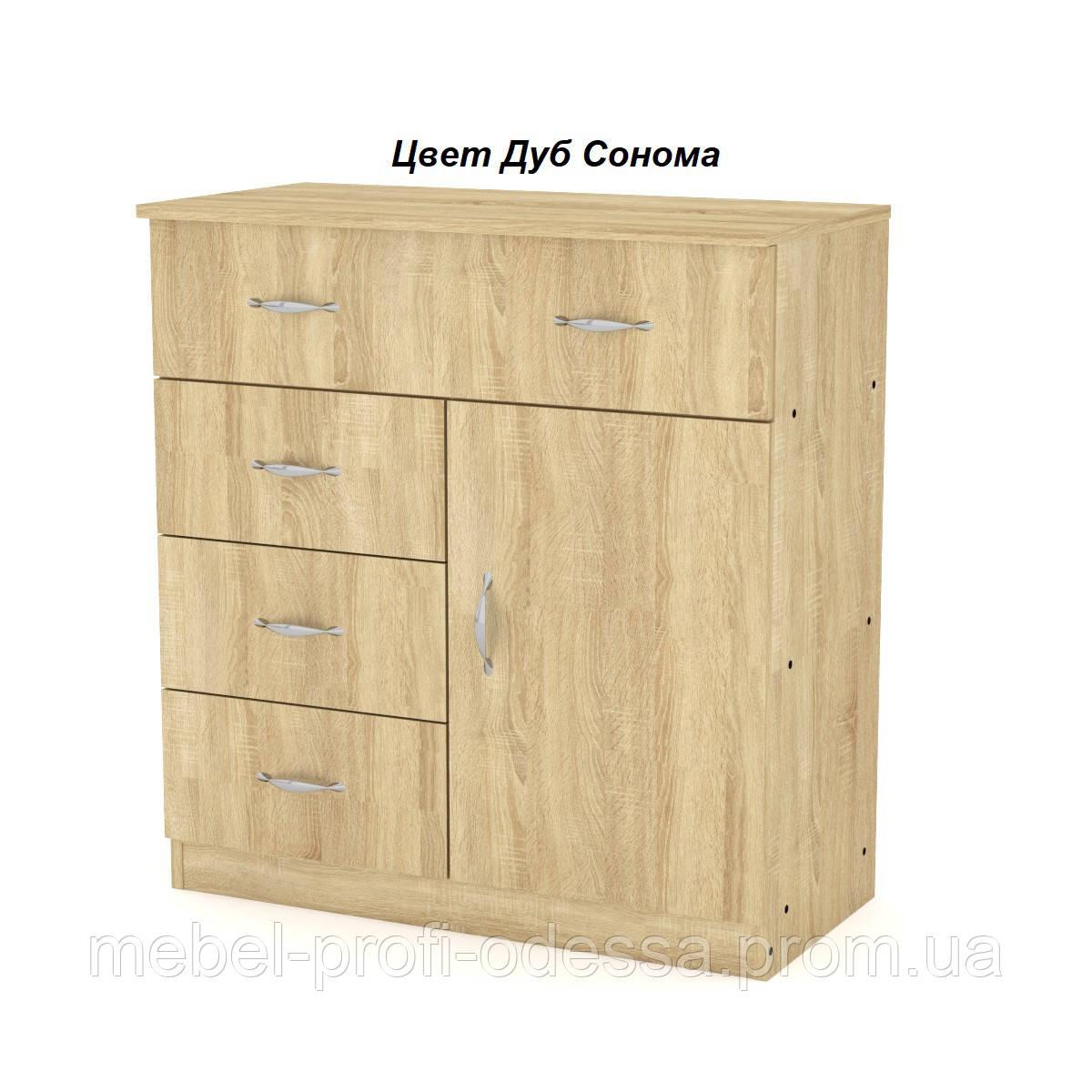 Комод 1+3+1 ширина 800 Компанит комод с тремя ящиками и одной дверью