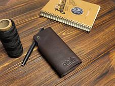 Ключница ручной работы из кожи Краст VOILE ck1-kbrn, фото 2