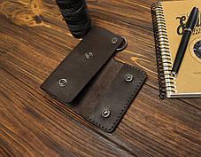 Ключница ручной работы из кожи Краст VOILE ck1-kbrn, фото 3