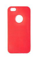 Силиконовый чехол Apple iPhone 5 / 5s / SE красный