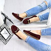 Туфли балетки женские Klass бордо 4522, балетки женские, фото 1