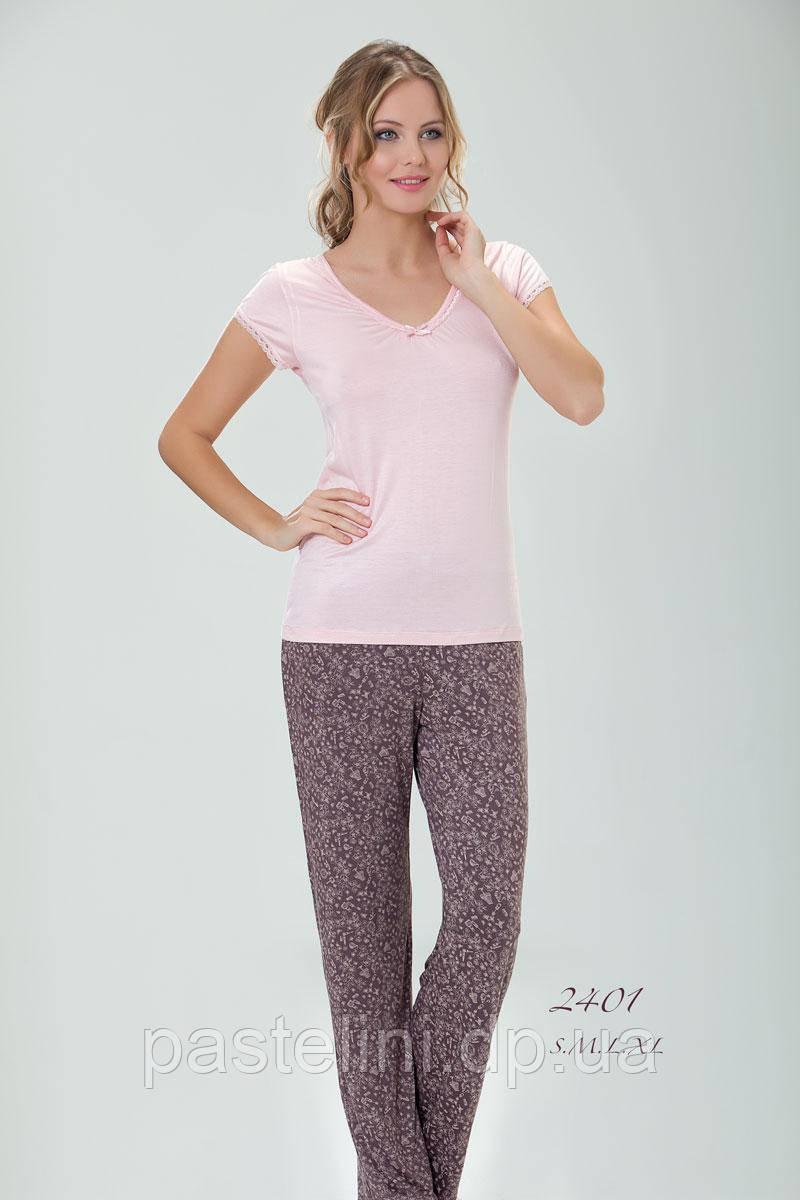 Пижама (брюки)+ футболка 2401