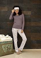 Двойка: пижама = брюки+кофта - фиолетовый 5183