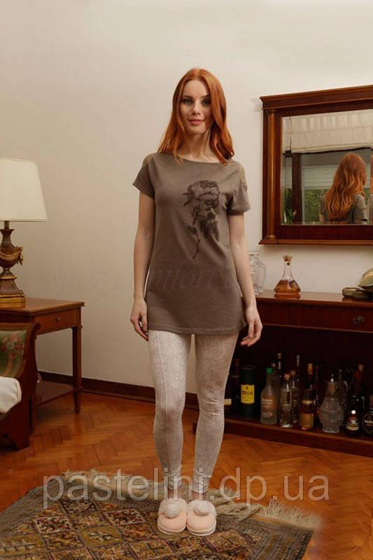 Двойка: пижама = брюки+кофта 6084