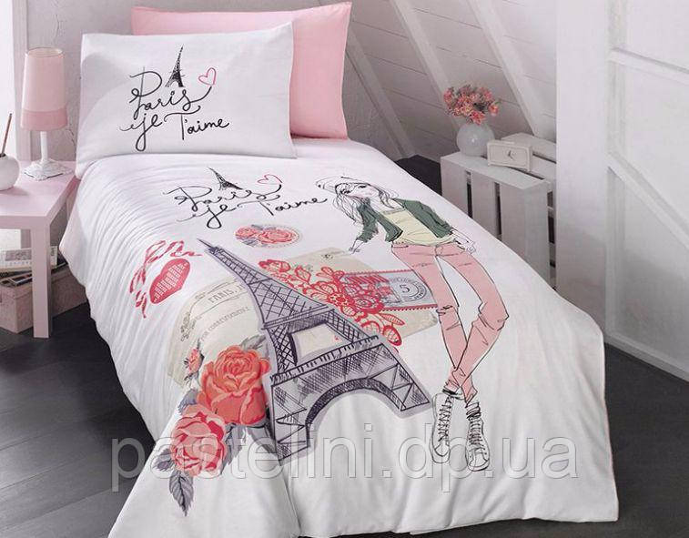 Комплект постельного белья First Choice ранфорс 160x220 Amour