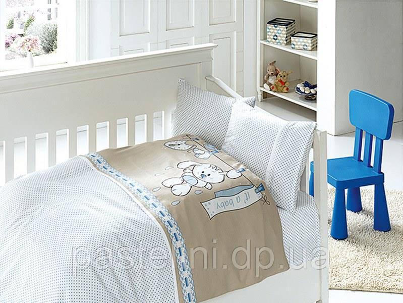 """Комплект постельного белья """"FIRST CHOICE"""" сатин в детскую кроватку baby mavi"""