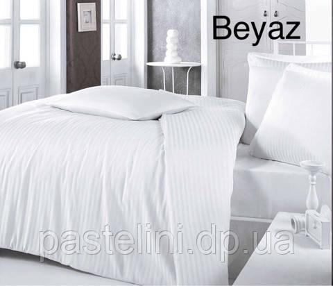 Комплект постельного белья Altinbasak сатин жаккард однотонный Beyaz