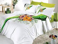 Комплект постельного белья First Choice сатин люкс Buket yesil
