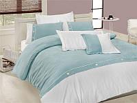 Комплект постельного белья First Choice vip бамбук жаккард bvip-12 henna turquaz